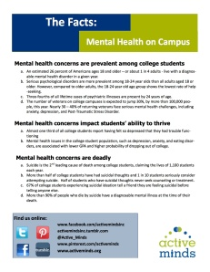 Mental Health on Campus